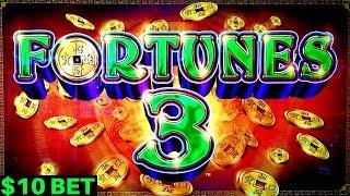 Fortunes 3 Echo Fortunes Slot Machine $10 Bet Bonus BIG WIN | Great Session | Live Slot in LAS VEGAS