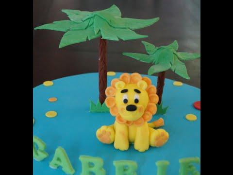 Cake Decorating Tutorial How To Make A Fondant Lion Cake Figurine