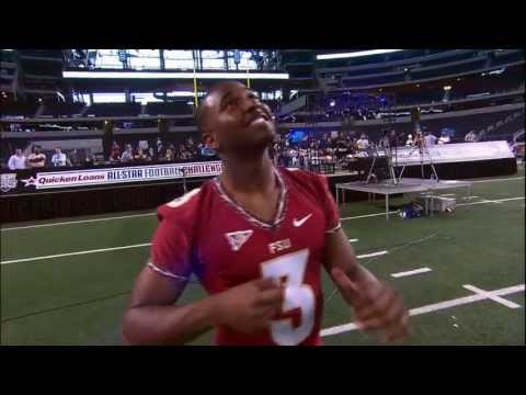 Florida State's E.J. Manuel competes in 2013 Quicken Loans All-Star Football Challenge