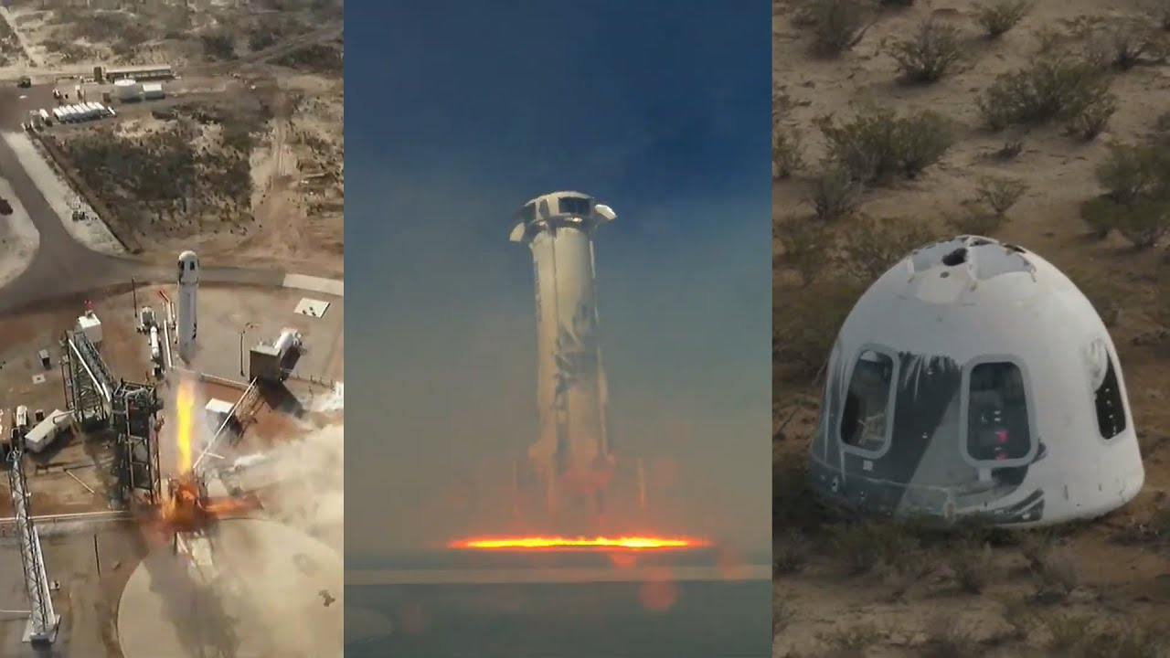 نتيجة بحث الصور عن ‪Watch Jeff Bezos' Blue Origin launch‬‏