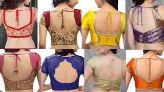 new blouse back shape design ideas/beautiful simple saree blouse back design ideas