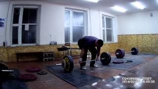 тяжелая атлетика - взятие на грудь
