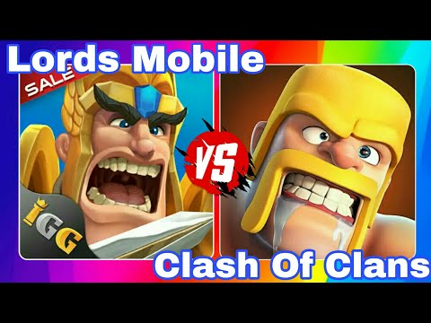 Lords Mobile Vs Clash Of Clans | Troops | Heroes | Gameplay HD | Hero Assault | Electro Dragon |