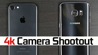 iPhone 7 vs Samsung Galaxy S7 - 4k Camera Comparison