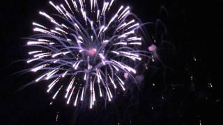 Pokaz fajerwerków - DOŻYNKI WOJEWÓDZKIE - Mońki 2011