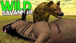 "Wild Savannah-Group hunting, hyenas, LION attack!   ""Roblox"" (EN-BR) Animal games"