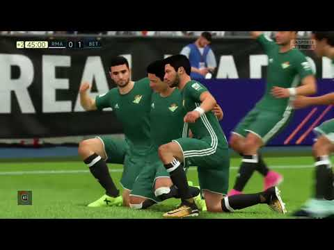 FIFA18 REAL Madrid vs REAL BETIS; La Liga MATCH DAY 5