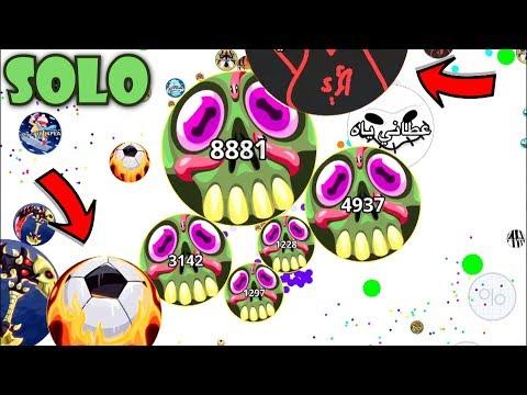 1 VS 100// MOST INTENSE SOLO TAKEOVER ( Agar.io Mobile ) thumbnail
