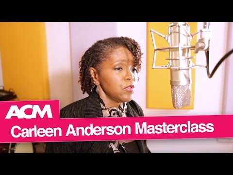 Carleen Anderson Vocals Masterclass at ACM