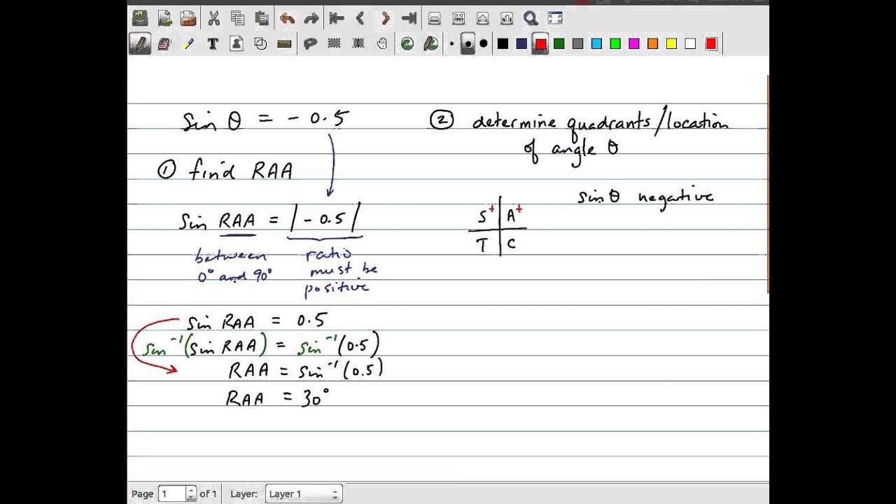 MCR3U - Trigonometry - Solve Trig Equation using CAST Rule