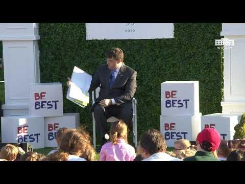 The White House: White House Easter Egg Roll Reading Nook - Secretary of Veteran Affairs Robert Wilkie