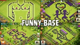 Top 10 Clash Of Clans Funny Illigle Bases ll