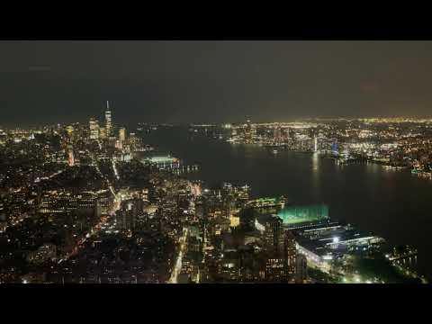 Lightning Streaks Behind New York Skyline in Dazzling Footage