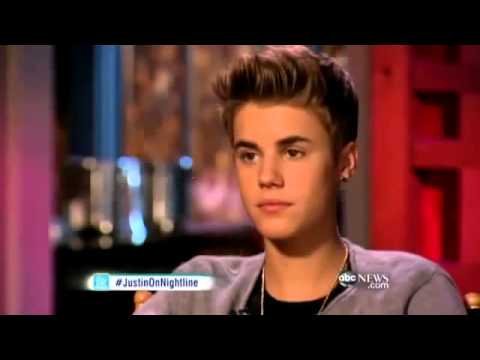 Justin didn't want to talk about Sel for Nightline (June 26, 2012)