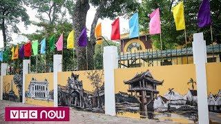 Bích họa Hà Nội xưa trên phố Phan Đình Phùng