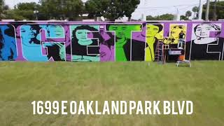 Latest Girl Noticed Mural By Lori Pratico In Oakland Park!