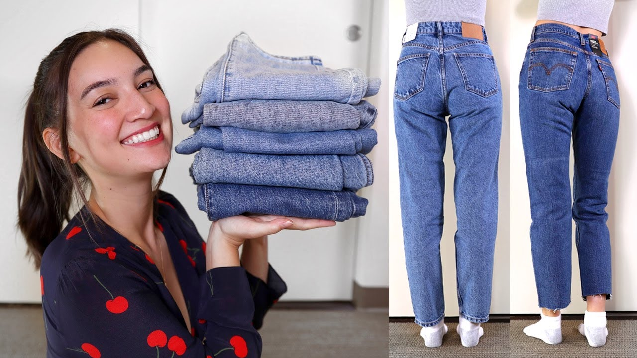 In anticipo Termico Sbirciare  Which Brand Makes The Best MOM JEANS? - YouTube