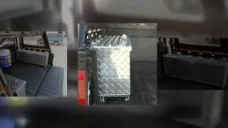 Polaris Full Size Ranger Utv Diamond Plate Rear Cargo Bed Storage Tool Box
