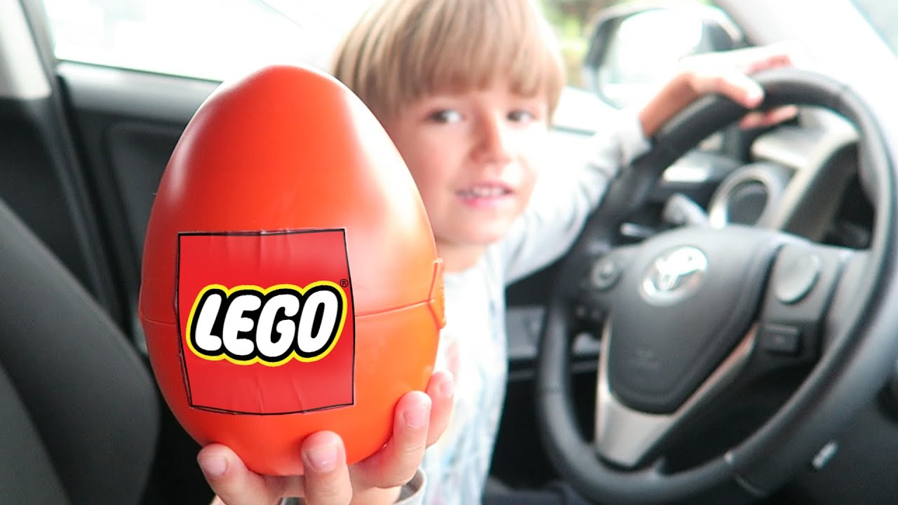 Big Lego Surprise Egg in a Car Opening​​​ - YouTube