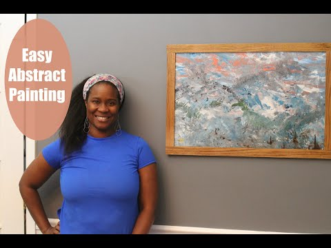 ART - Made At Home  - DIY Abstract Painting using Dollar Tree Materials