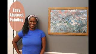 ART - Made At Home  - DIY Abstract Painting using Dollar Tree Materials