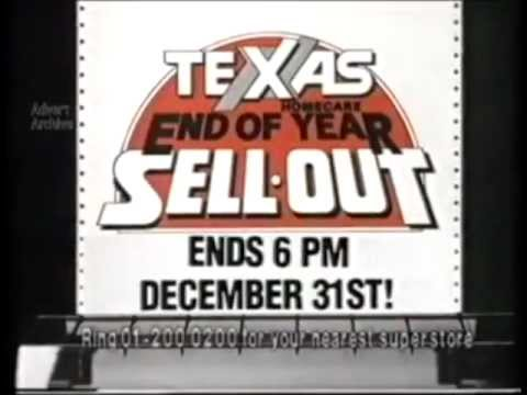Texas Homecare End of Year Sell Out Advert from 1987