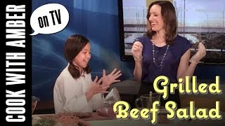 Thai-inspired Grilled Beef Salad On Q13 Fox News | Cook With Amber