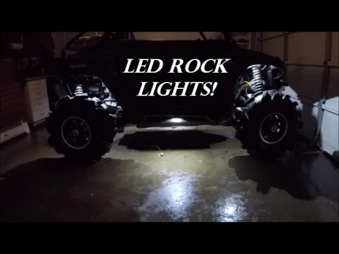 Rzr 800 Led Rock Light Install Youtube