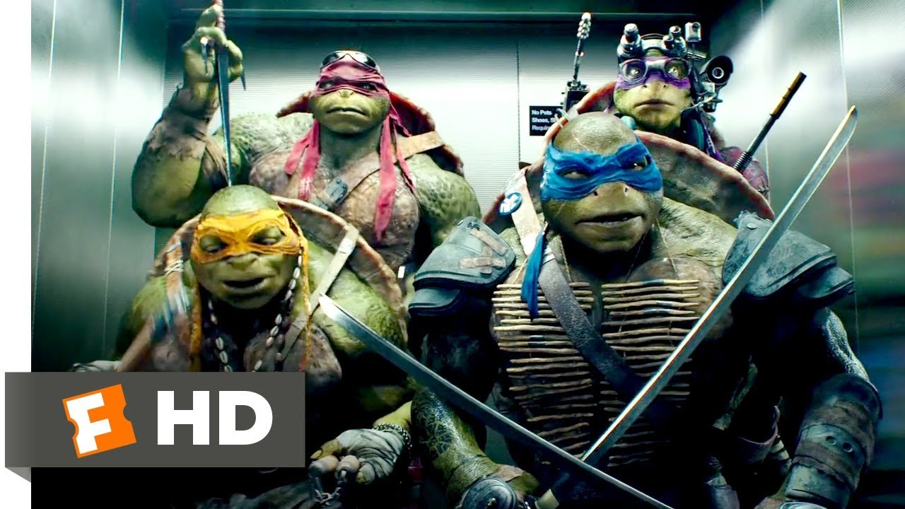 Teenage Mutant Ninja Turtles 2014 Elevator Freestyle Scene 810