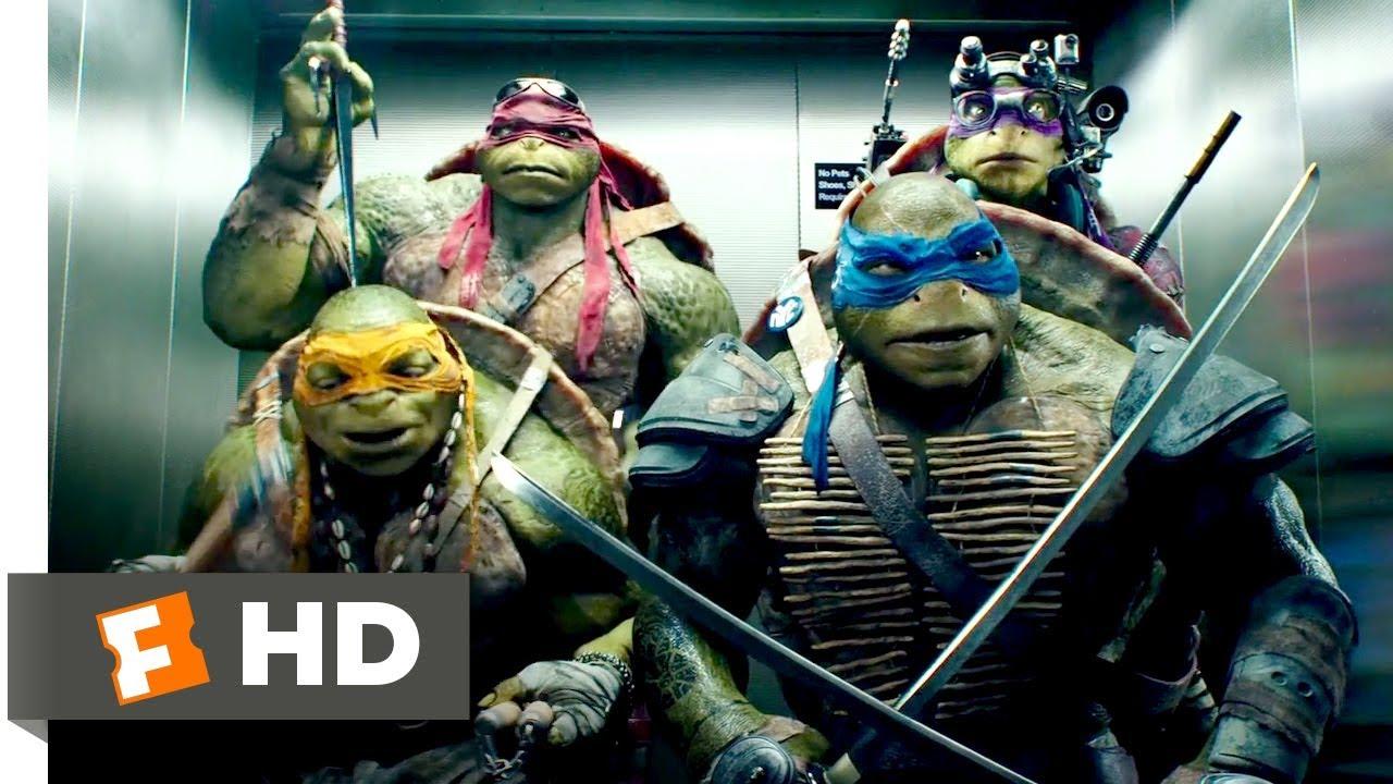 Teenage Mutant Ninja Turtles (2014) - Elevator Freestyle Scene (8/10)    Movieclips - YouTube