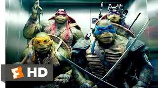Teenage Mutant Ninja Turtles (2014) - Elevator Freestyle Scene (8/10) | Movieclips