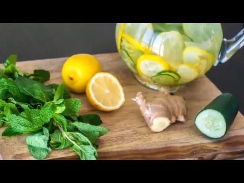 agua de apio pepino y limon para adelgazar