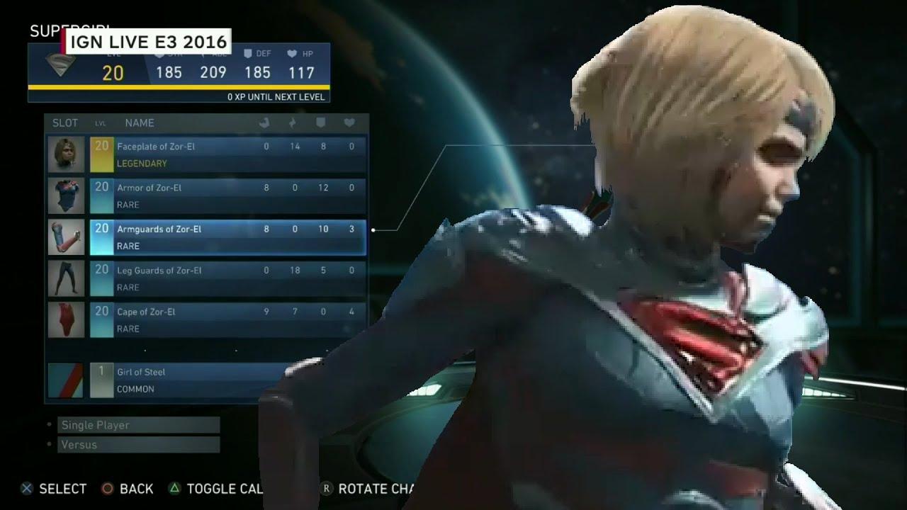 Injustice 2 Gear Menu (Customizing SuperGirl & Details) (PS4) (HD ... Beetle