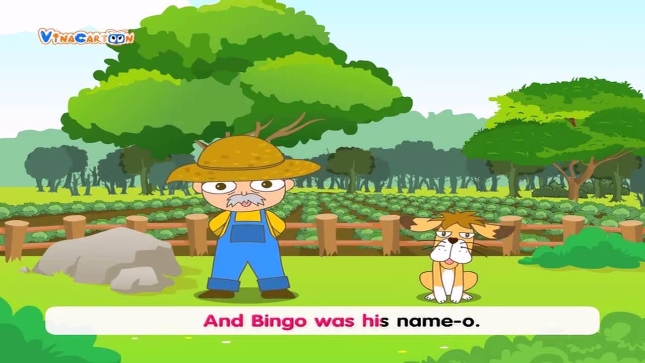 Bé Mầm Non Học Tiếng Anh - Bài Hát Bingo - YouTube