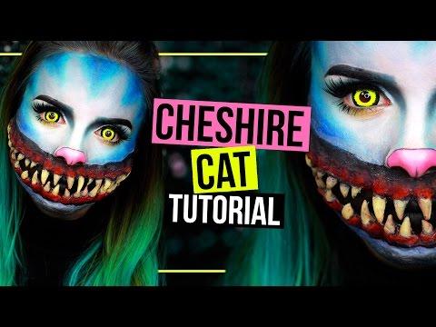 horror-grinsekatze---cheshire-cat---halloween-makeup-tutorial-sfx-|-#spooktober