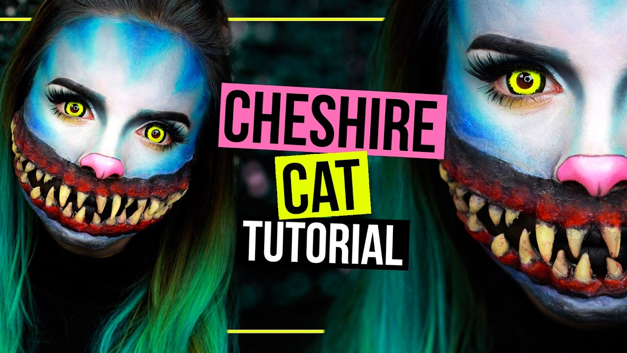 horror grinsekatze cheshire cat halloween makeup tutorial sfx spooktober youtube. Black Bedroom Furniture Sets. Home Design Ideas