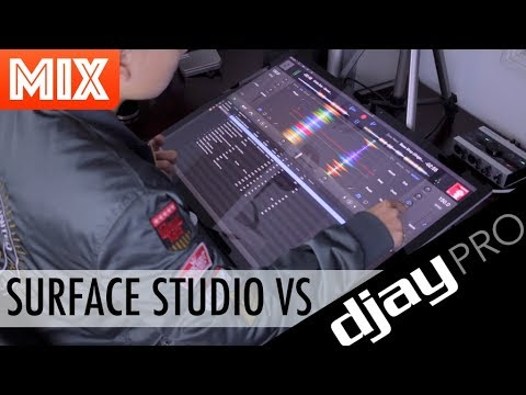 DJ Ravine and djay Pro on a $5500 Surface Studio!