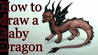 How to draw a Dragon Baby