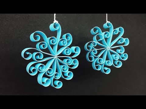 DIY Simple Paper Hanging Decorations for Christmas - Handmade Home Decor