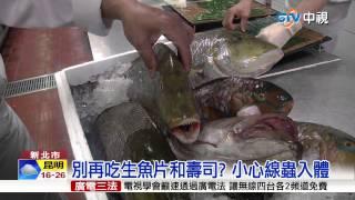 【中視新聞】別再吃生魚片和壽司? 小心線蟲入體 20150711