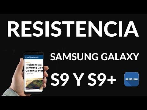 Resistencia al agua del Samsung Galaxy S9 y Galaxy S9 Plus