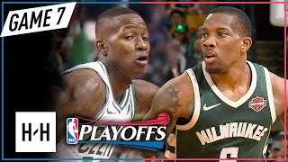 Terry Rozier vs Eric Bledsoe INTENSE Game 7 Duel Highlights 2018 Playoffs - SCARY TERRY!