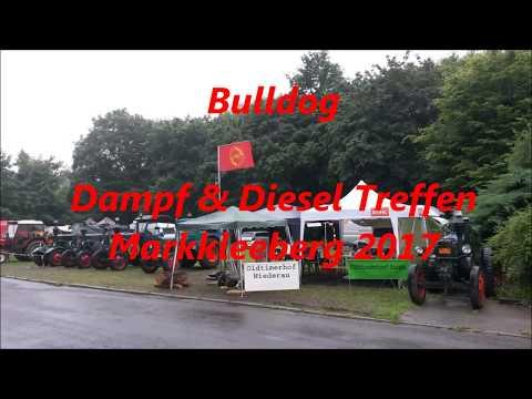 Lanz Bulldog Treffen Dampf und Diesel Markkleeberg Leipzig 2017 eine Runde über den Platz