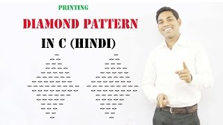 Printing Diamond Pattern from Any Symbol  in C (HINDI)