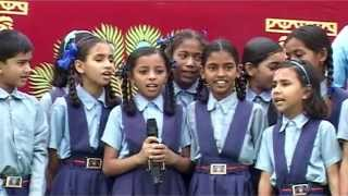 Kids songs on  Independence day by kids of Pushpgiri tirth 15 aug 15 aug 2015
