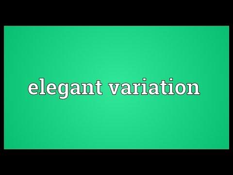 Elegant variation Meaning