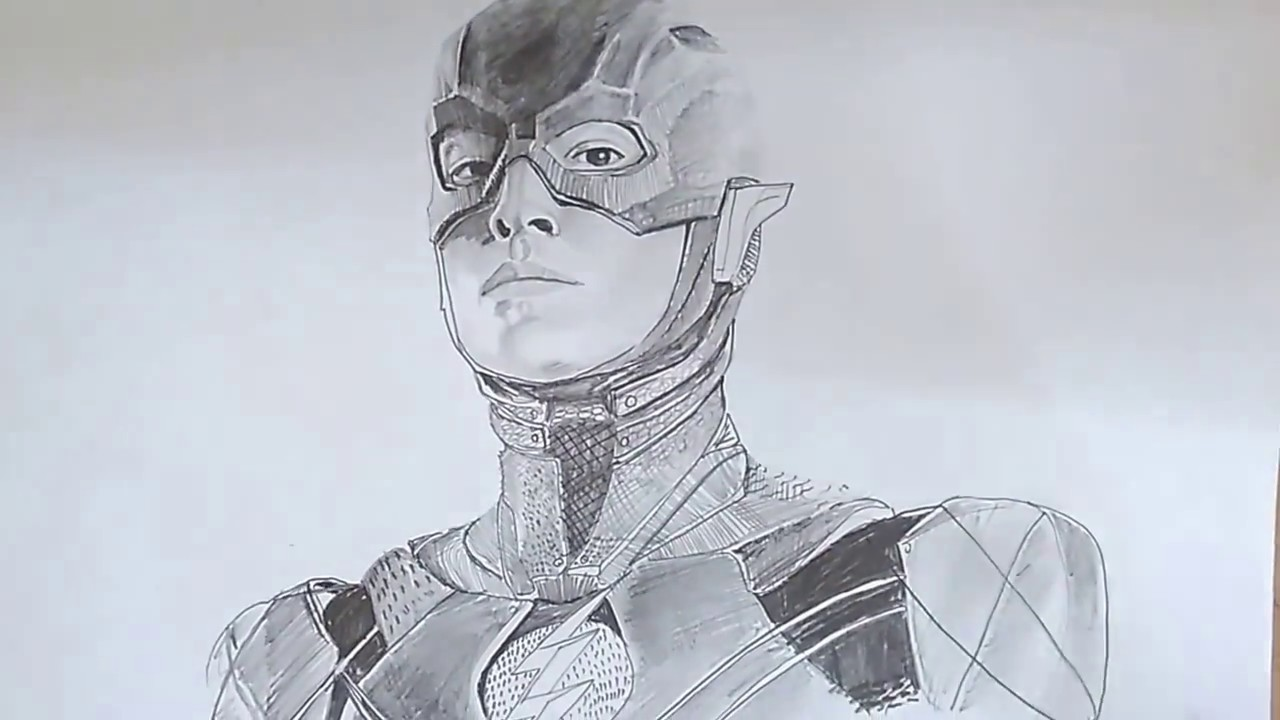 The Flash Line Art : The flash speed art from justice league youtube