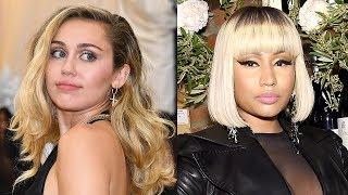 Miley Cyrus DANCES to Nicki Minaj + Nicki TEASES