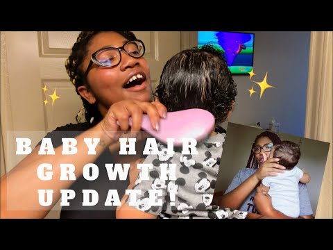 WHO DAT?! 👀💙   REGROW THAT BALD SPOT!   SPECIAL HOMEMADE PRODUCTS TO HELP BABY'S HAIR GROW✨