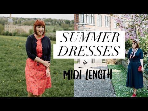 Summer Dresses in Midi Length